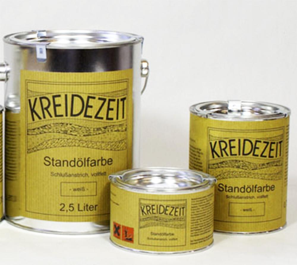 imagen producto: Esmalte al aceite, 1ª mano, mate - Blanco - KREIDEZEIT - 0,375 litros