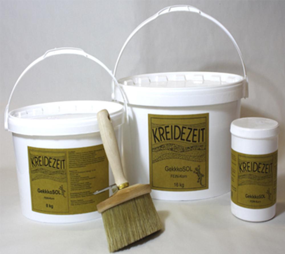 imagen producto: GekkoSOL grano fino 0,5mm - Blanco - KREIDEZEIT - 5 litros