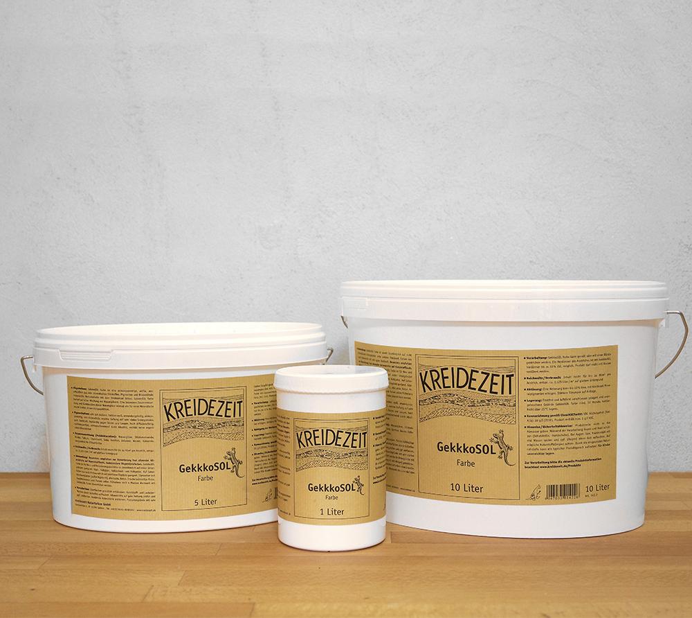 imagen producto: Pintura GekkoSOL liso - Blanco - KREIDEZEIT - 5 litros